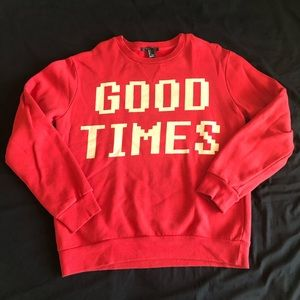 Good times red pullover from Forever 21 Men